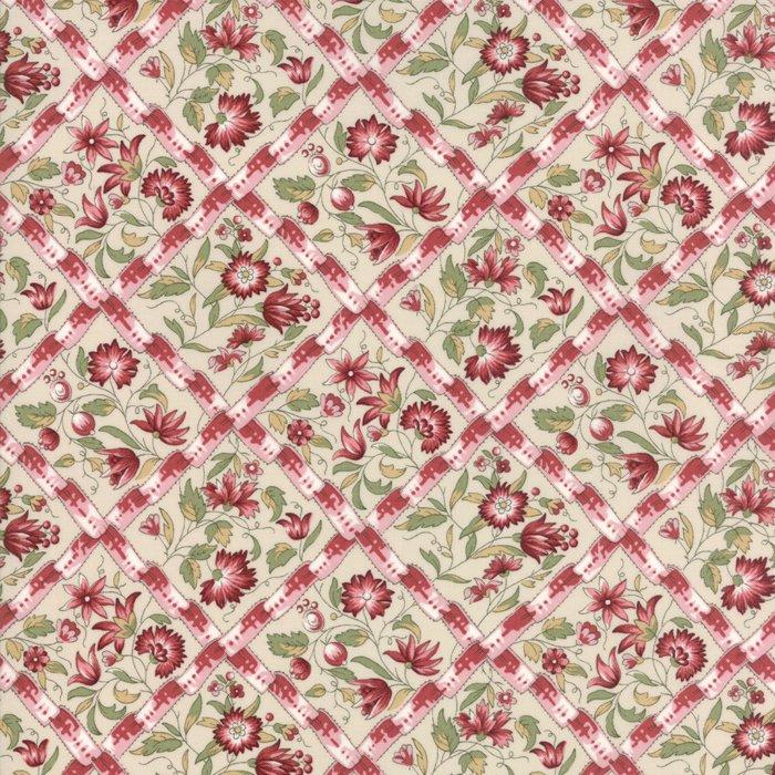 Fabric - Jardin d' Ver - Pearl Rose 13812-12