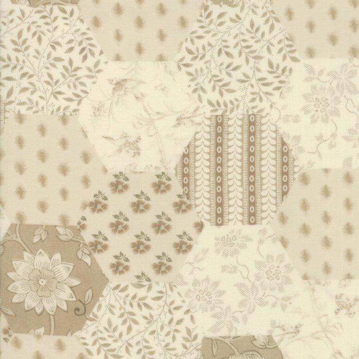 Fabric - La Vie EnRouge Pearl - 13820-17