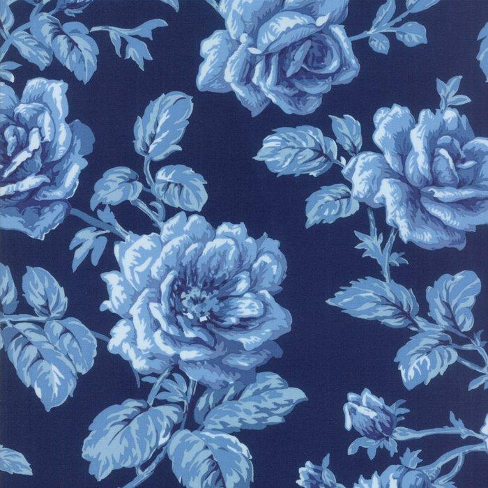 Fabric - Regency Blues-English Blue 42301-15