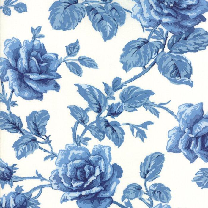 Fabric - Regency Blues-Off White Blue 42301-17