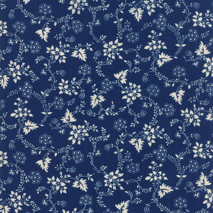Fabric - Regency Blues-English Blue 42302-18
