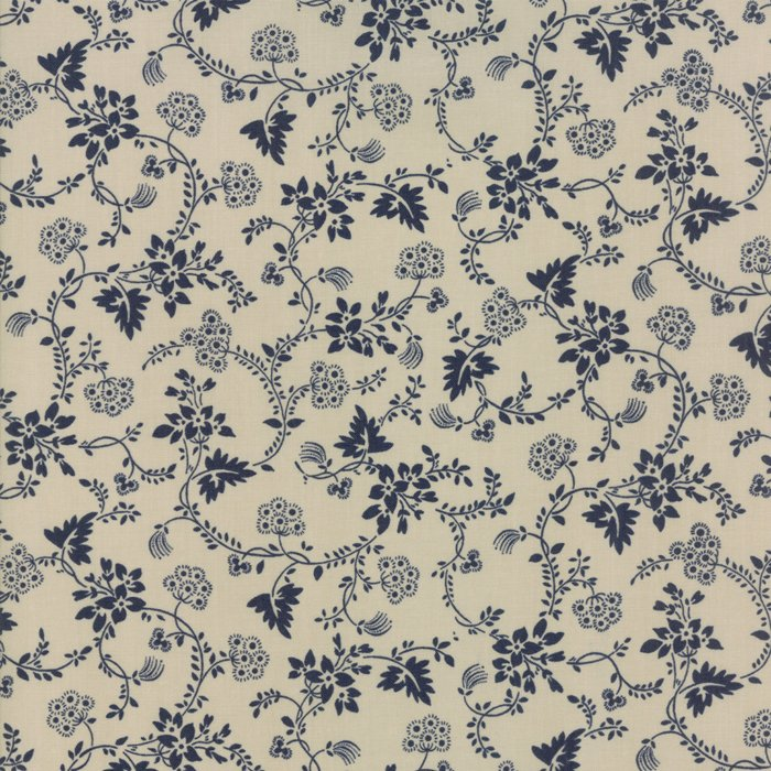 Fabric - Regency Blues-Tan Navy 42302-24
