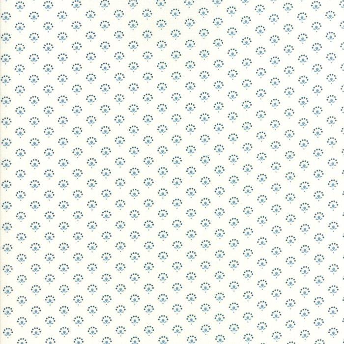 Fabric - Regency Blues-Off White Blue 42305-16