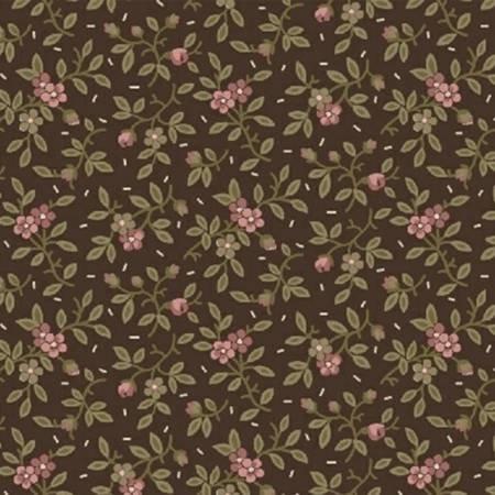 Fabric - Mocha Floral Vine