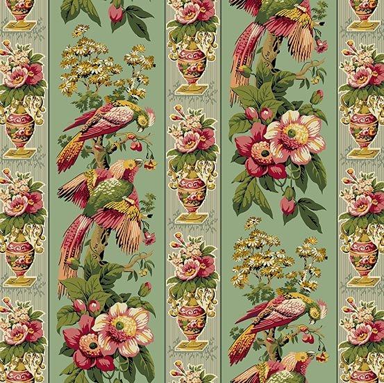 Fabric - Bally Hall Birds of a Feather - Teal