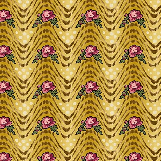 Fabric - Bally Hall Waves - Mustard