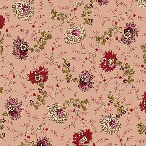 Fabric - Bally Hall Delicate Floral - Rose