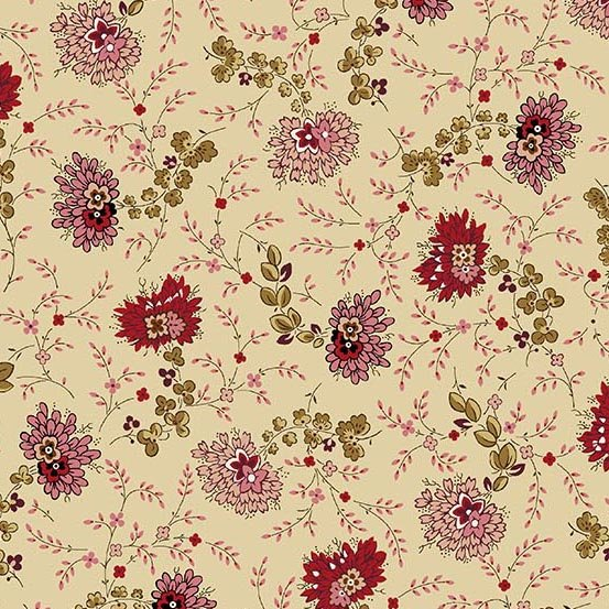 Fabric - Bally Hall Delicate Floral - Beige
