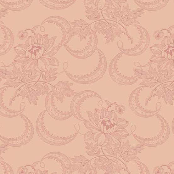 Fabric - Bally Hall Jacquard - Rose