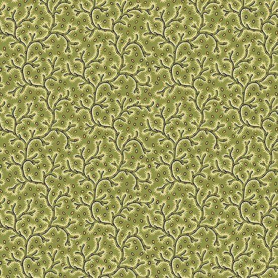 Fabric - Bally Hall Vines - Olive