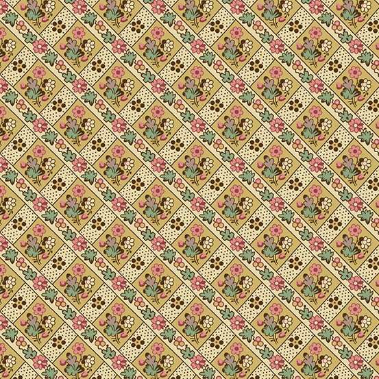 Fabric - Windermere Blossom - Yellow