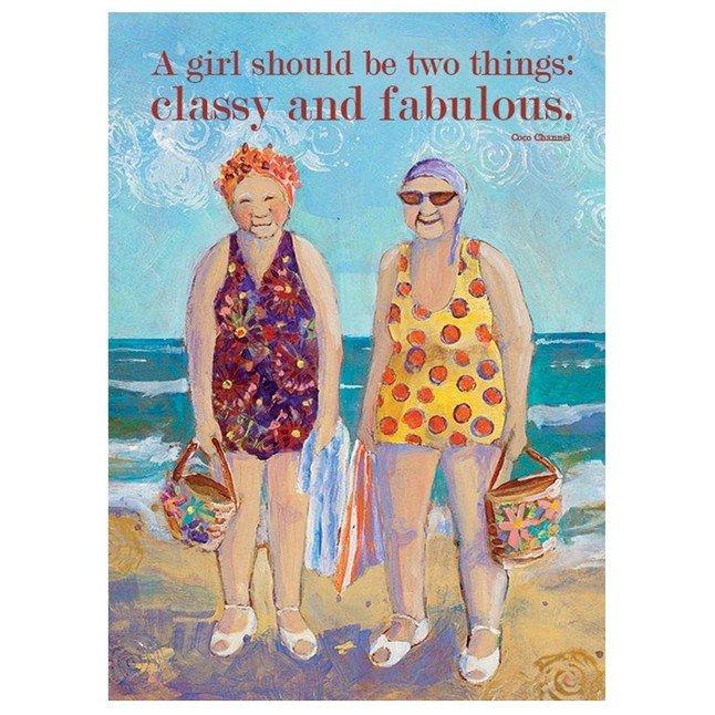 SS Card -Birthday - Classy and Fabulous Card - B109