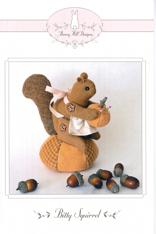 Pattern - Bitty Squirrel Pincushion