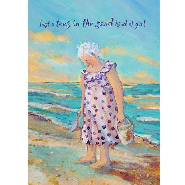 SS Card - Encouragement - Toes in the Sand E405