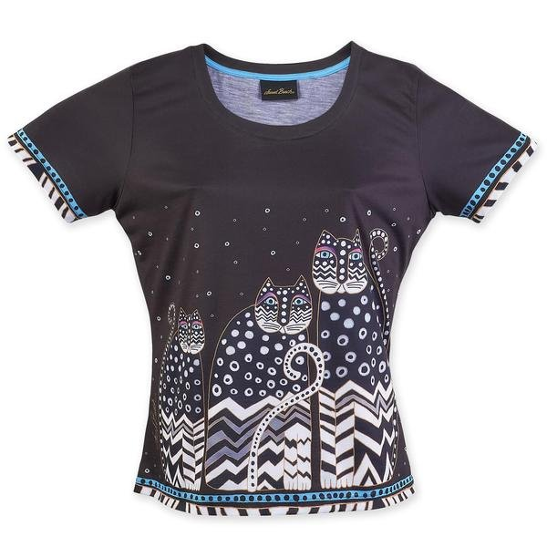 LB T-shirt - Polka Dot Gatos black