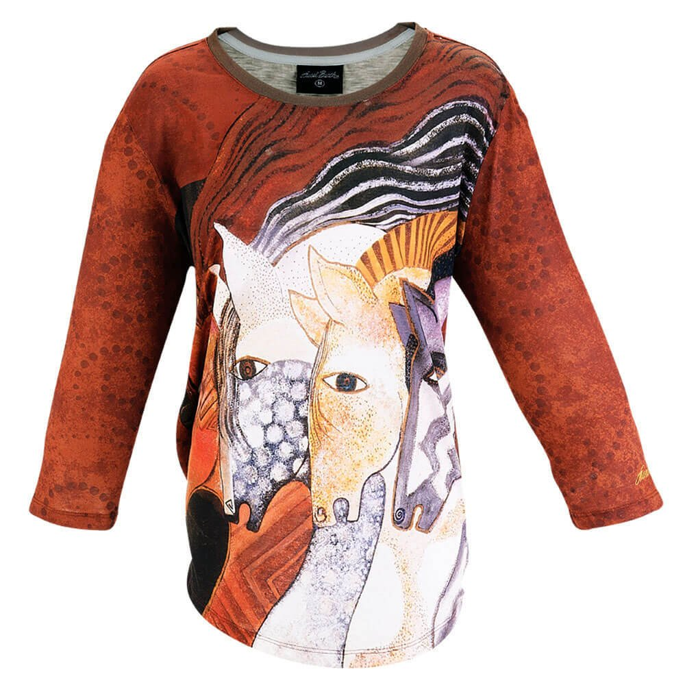 LB T-shirt - Moraccan Mare (3/4 sleeve)