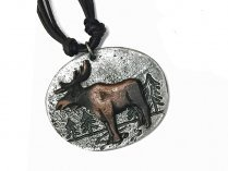 Jewelry -Pewter Moose Cord Necklace