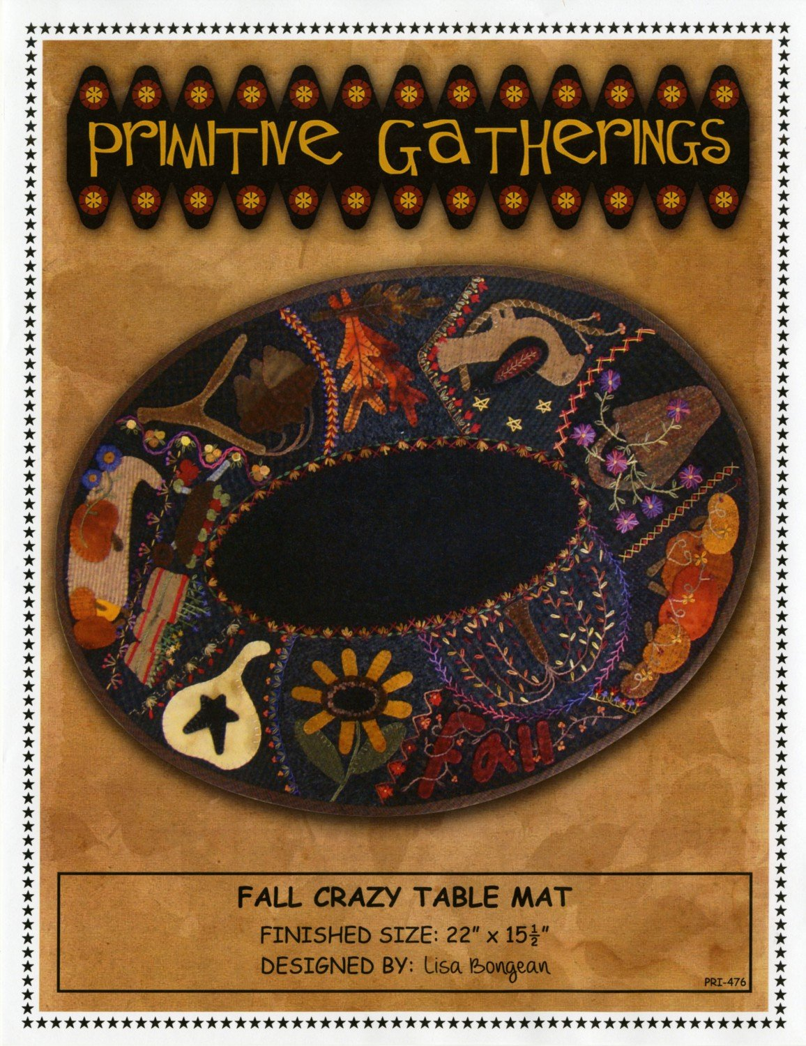 Pattern - Crazy Table Mat - Fall