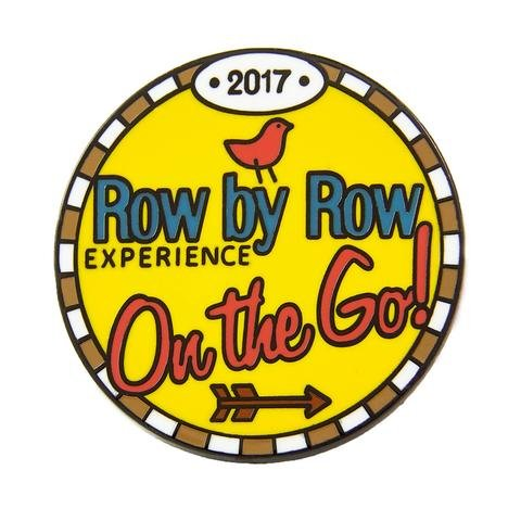 2017 Row By Row Round Logo Pin