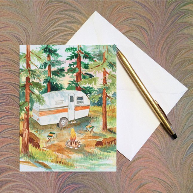 SS Art Card 5 pack - Vintage Camping - W526