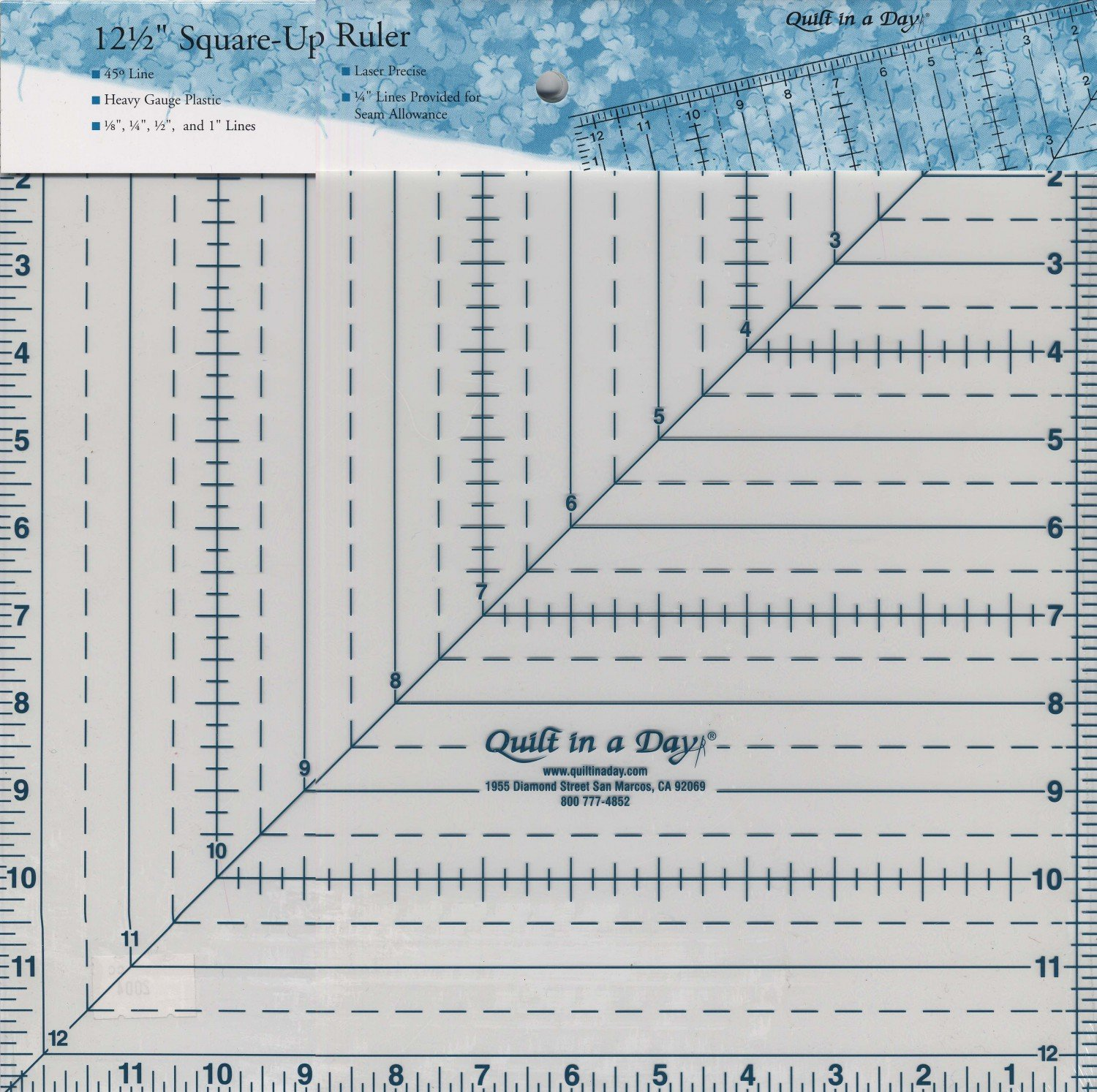 Quilt In A Day 12.5 Square-Up Ruler