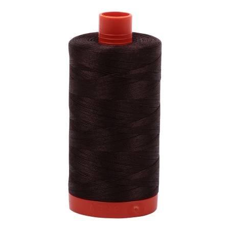 Aurifil 50wt Cotton 1422yds- Dark Brown