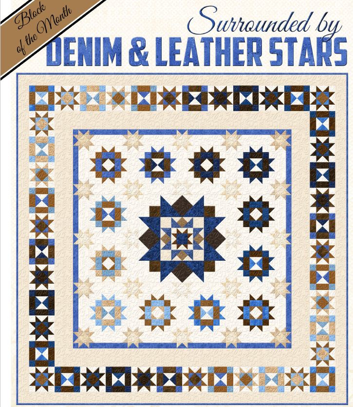 Surrounded by Denim & Leather Stars-BOM 6