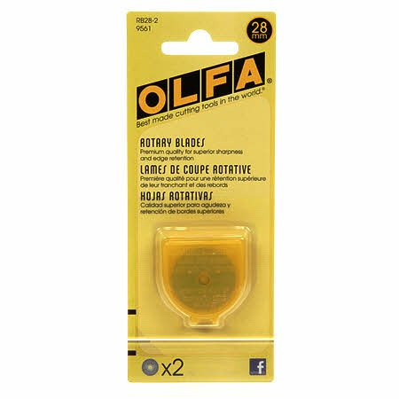 Olfa Rotary Blades 28mm- 2 pack