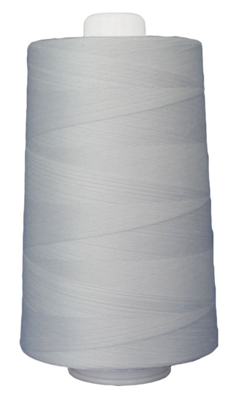 #3001 BRIGHT WHITE Omni Thread. Poly-wrapped poly core. 6000 yds.