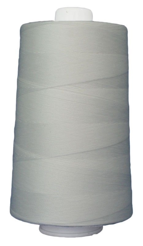 #3002 NATURAL WHITE Omni Thread. Poly-wrapped poly core. 6000 yds.