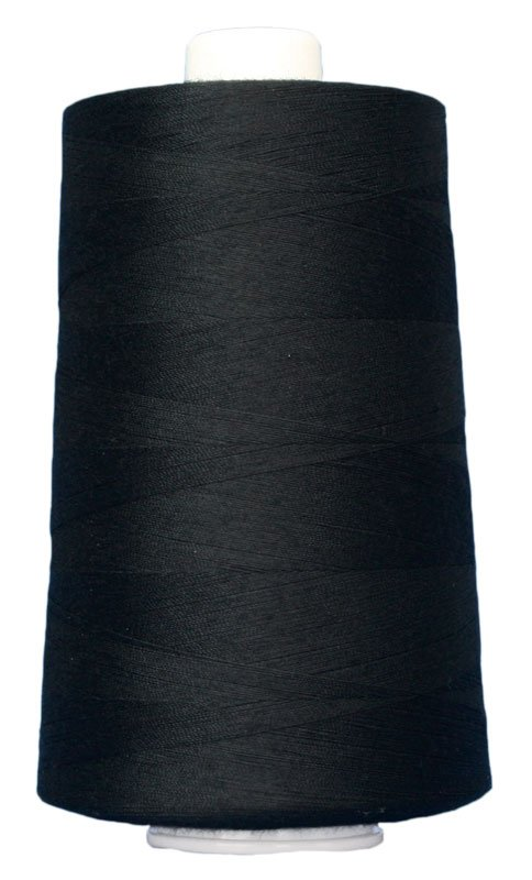 #3026 BLACK Omni Thread. Poly-wrapped poly core. 6000 yds.