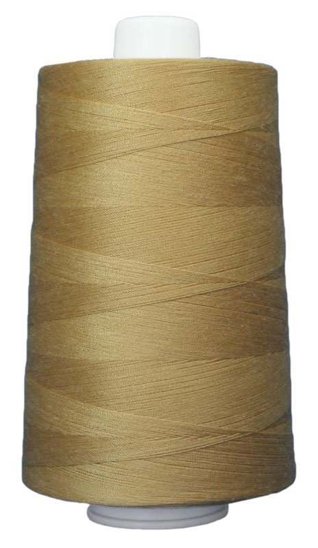 #3042 VANILLA WAFER Omni Thread. Poly-wrapped poly core. 6000 yds.