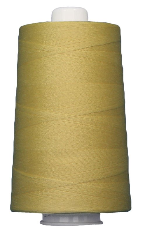 #3050 YELLOW Omni Thread. Poly-wrapped poly core. 6000 yds.