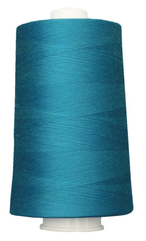 #3091 BLUE TURQUOISE Omni Thread. Poly-wrapped poly core. 6000 yds.