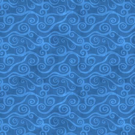 Blue Swirly Scroll