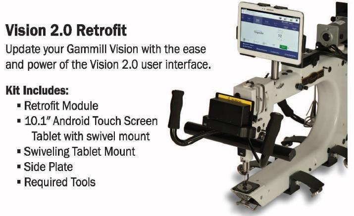 Vision 2 Retrofit Kit for Vision 1 machines