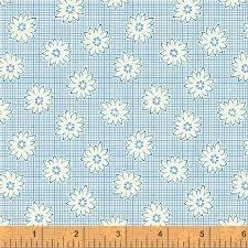 Windham Floral Grid Blue