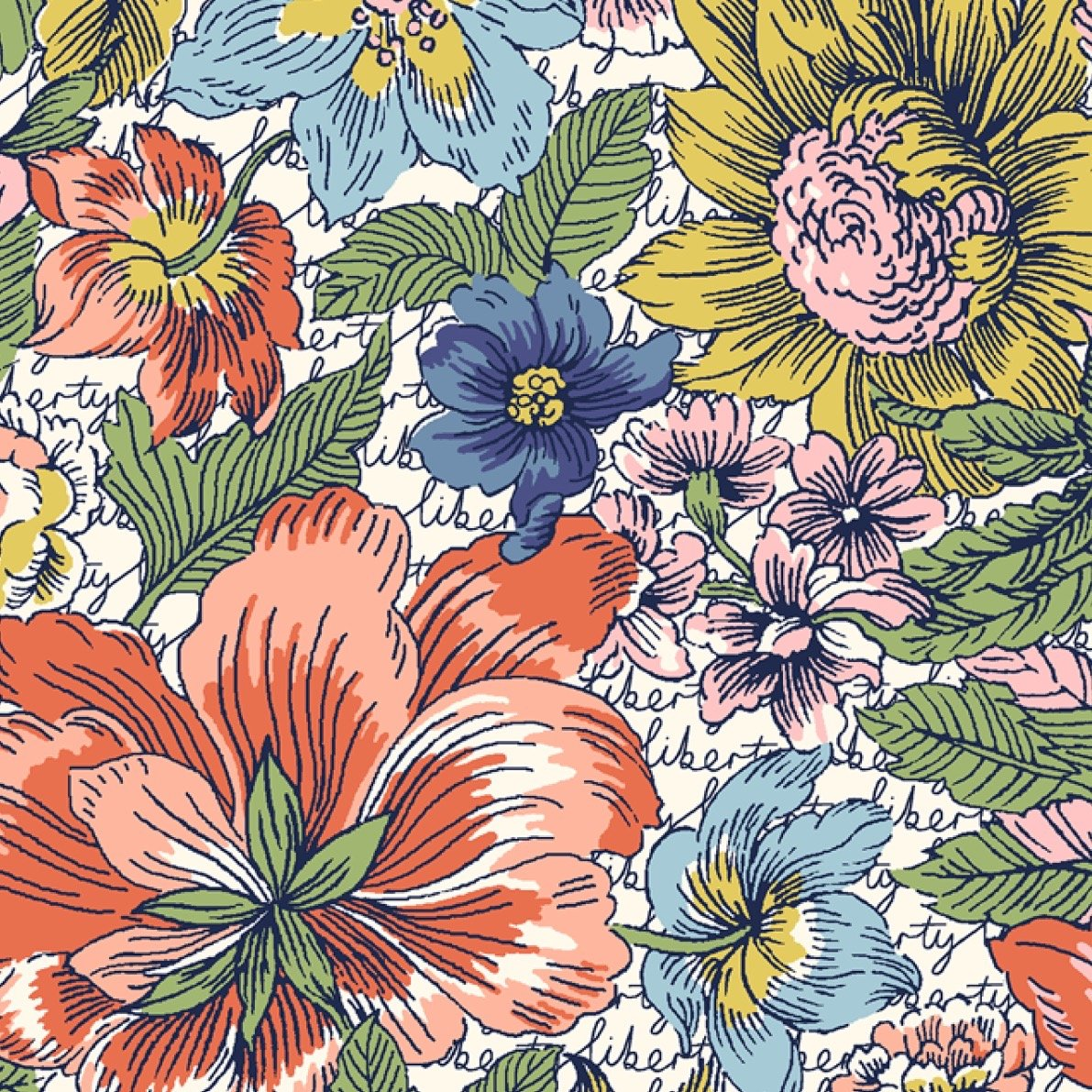 Liberty of London Tana Lawn Champions - Floral Anthem (Multi)
