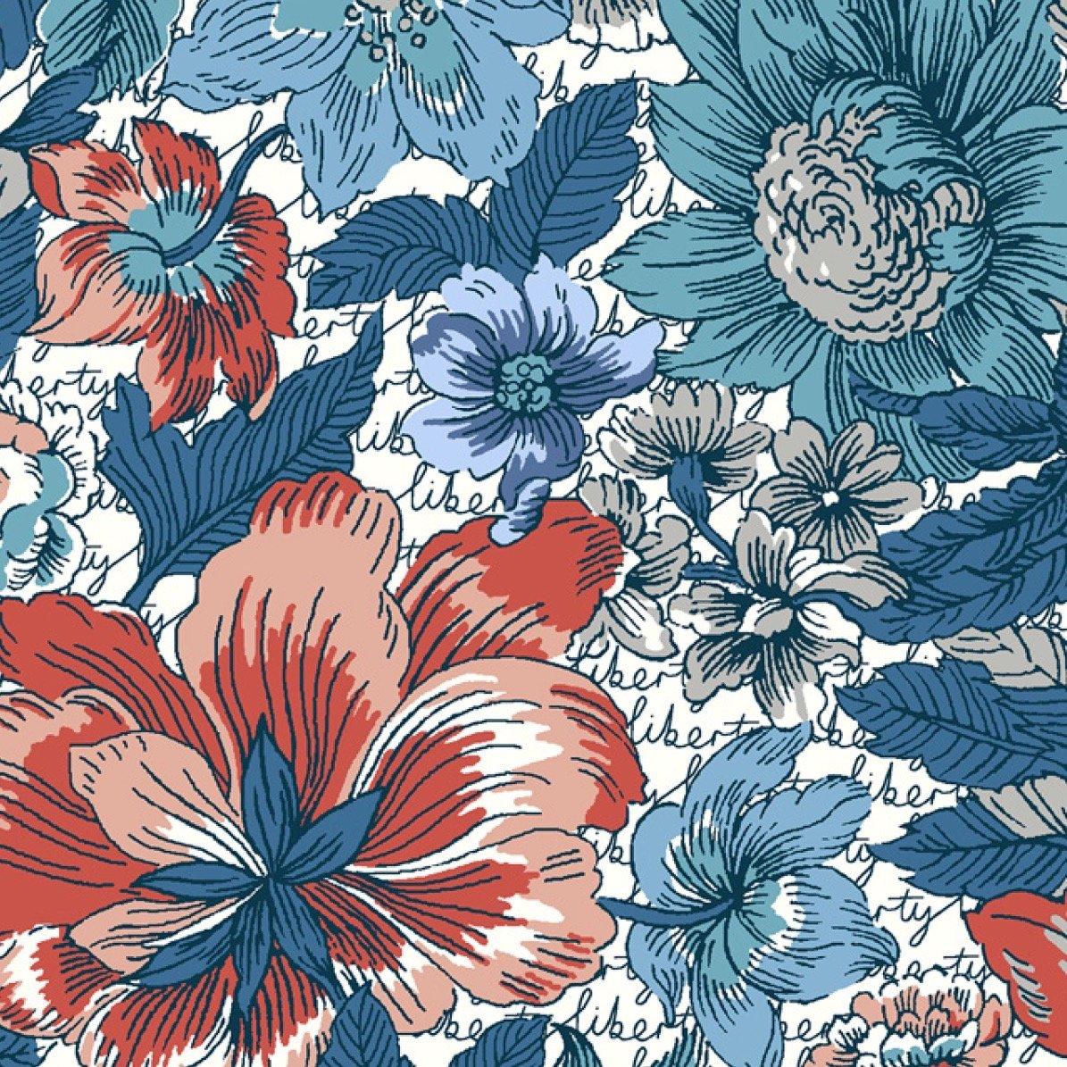 Liberty of London Tana Lawn Champions - Floral Anthem (Blue)
