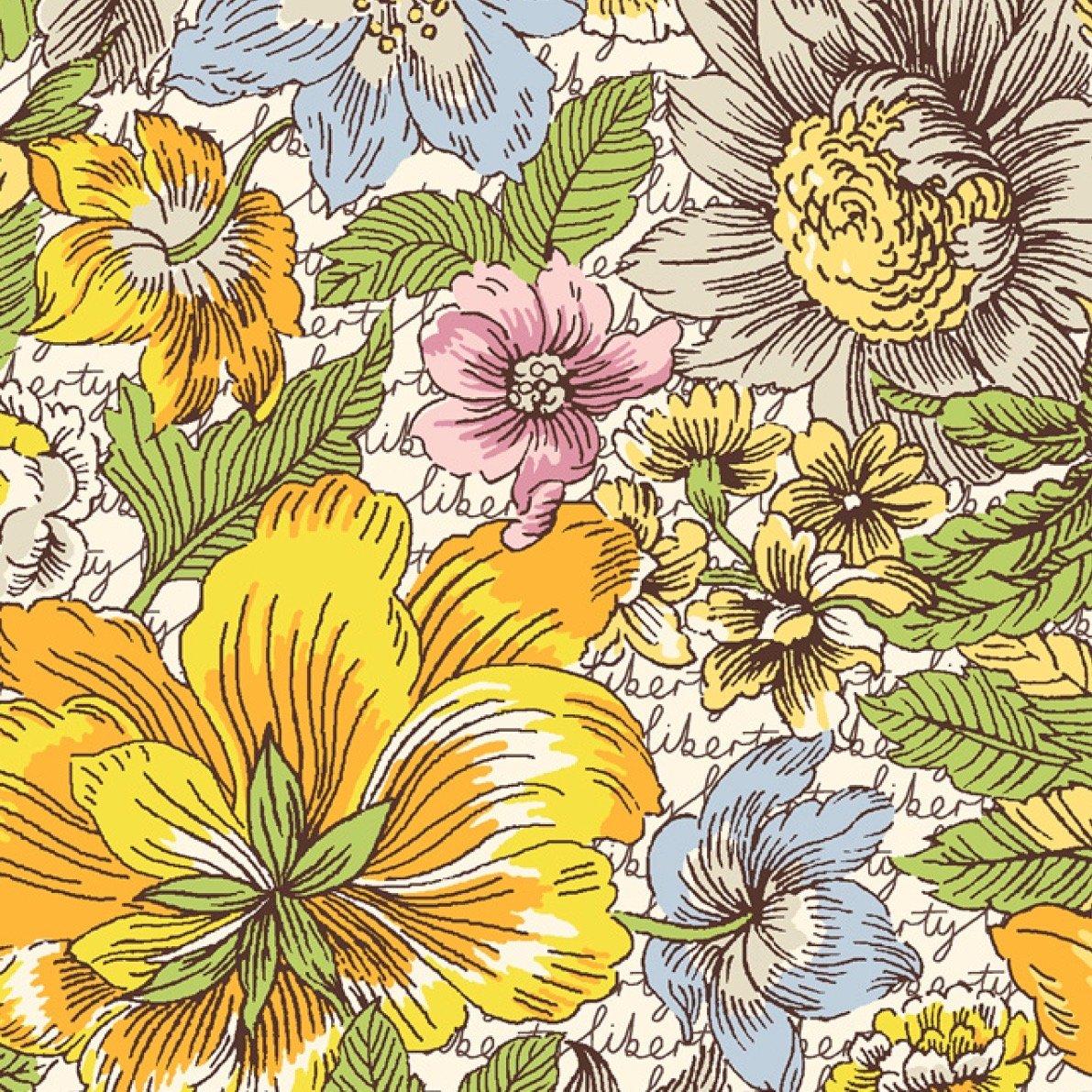 Liberty of London Tana Lawn Champions - Floral Anthem (Yellow)