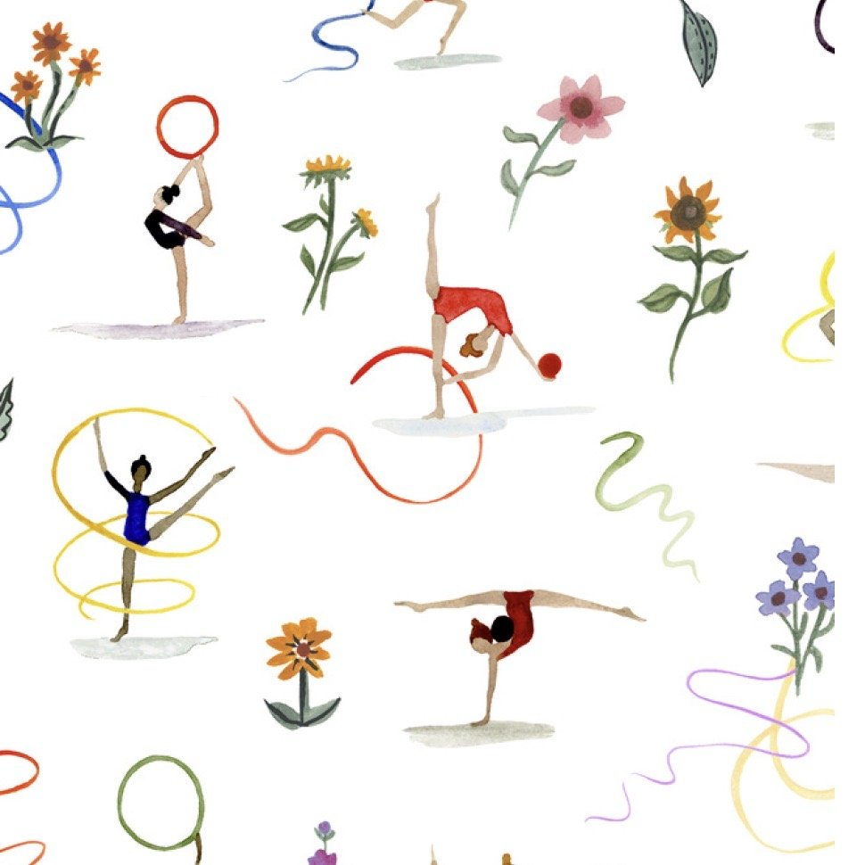 Liberty of London Tana Lawn Champions - Ribbon Twirl (White)