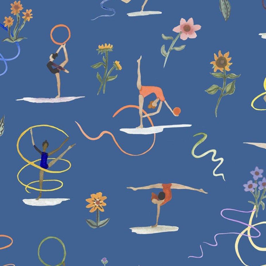 Liberty of London Tana Lawn Champions - Ribbon Twirl (Blue)
