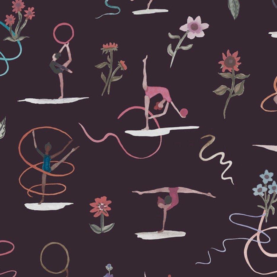 Liberty of London Tana Lawn Champions - Ribbon Twirl (Purple)