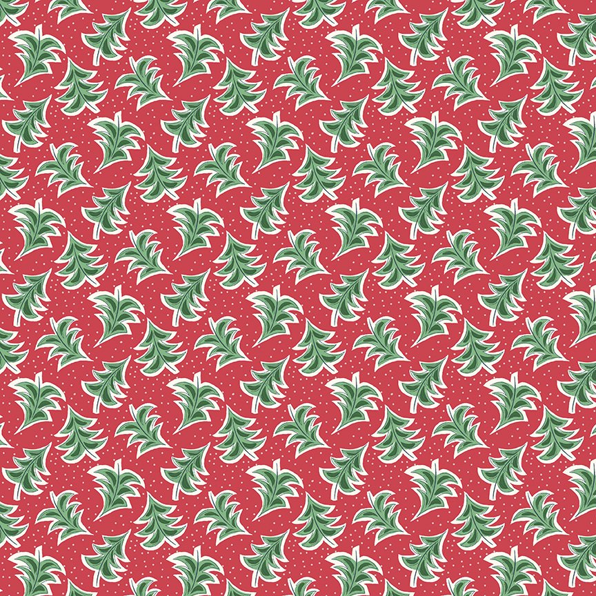 Liberty Fabrics Merry and Bright - Dancing Trees A (Red)
