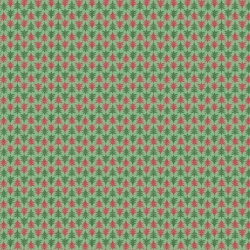 Liberty Fabrics Merry and Bright - Festive Firs A (Red)