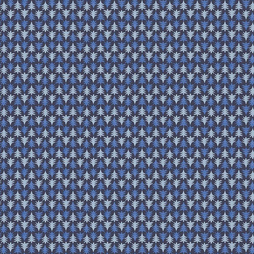 Liberty Fabrics Merry and Bright - Festive Firs B (Blue)