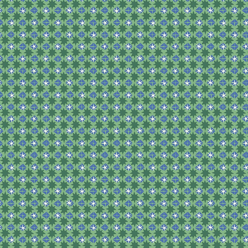 Liberty Fabrics Merry and Bright - Starlit Sparkle A (Green)