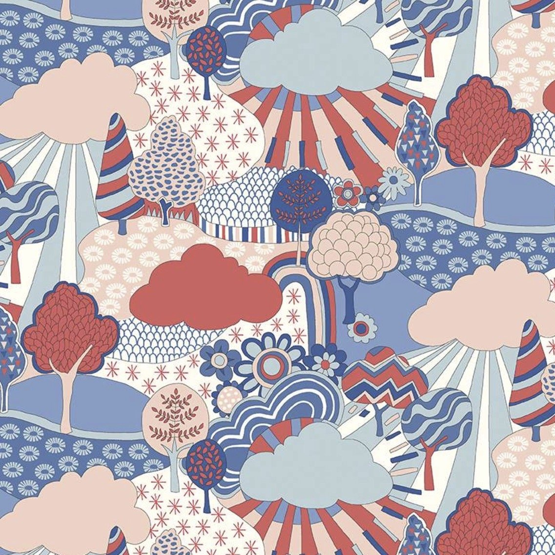 Liberty Fabrics The Carnaby Collection - Retro Indigo (Sunny Afternoon A)