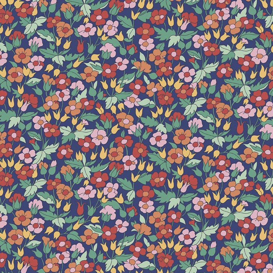 Liberty Fabrics The Carnaby Collection - Bohemian Brights (Piccadilly Poppy F)