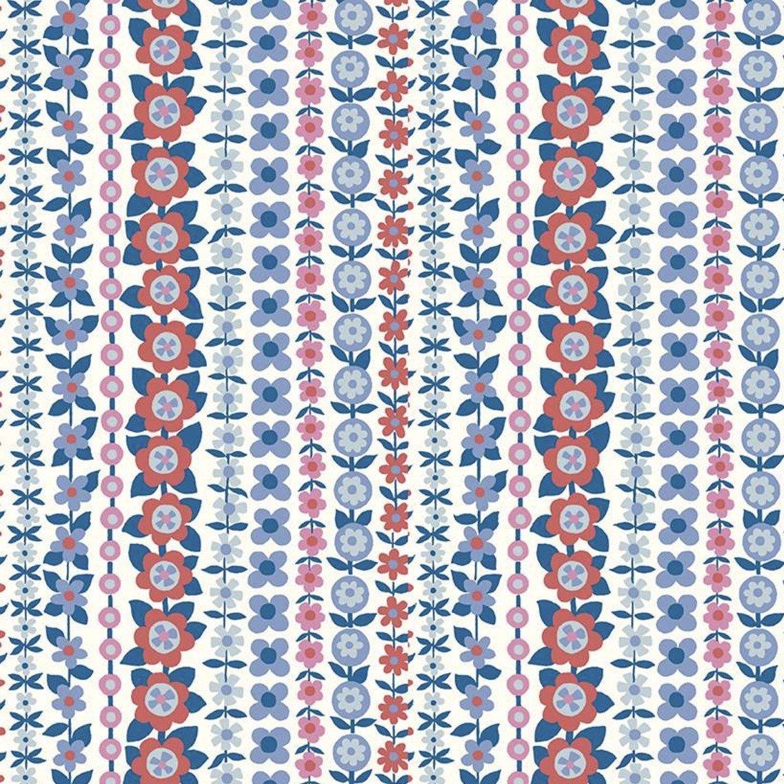 Liberty Fabrics The Carnaby Collection - Retro Indigo (Soho Stripe A)